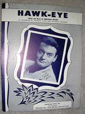 1955 Hawk-Eye Sheet Music Frankie Laine by Boudleaux Bryant Hawkeye