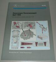 Werkstatthandbuch Mercedes W 140 S-Klasse Motor Fahrwerk Aufbau Stand 04/1995!