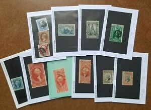US 19TH CENTURY LOT + BOB REVENUES ALL QUALITY DEALERS STOCK NICE!