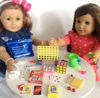 """Game Night for American Girl Doll 18"""" Accessories Fit Playable Mini Games SET"""