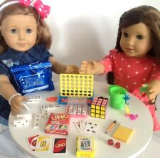 """Mini Game Night for American Girl Doll Accessories Fit 18"""" Dolls Playable Set"""