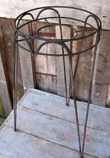 VINTAGE HAIR PIN LEGS WROUGHT IRON PLANT STAND HOME & GARDEN POT BASKET HOLDER