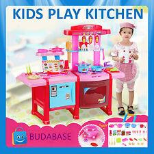 Electronic Sound Light Toy Kitchen Kids Pretended Play Kitchen Set Gift Birthday