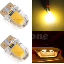10pcs T10 194 168 W5W COB 8 SMD LED CANBUS Silica License Light Bulb Warm White