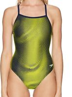 Speedo Women's Swimwear Blue Size 8 One Piece Swimsuit PowerFlex $74 #740