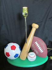 Lite Source All Sport Lamp Base Basketball~Baseball~Soccer~Football (NO SHADE)