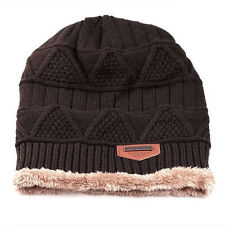 Unisex Winter Wool Knit Ski Beanie Skull Slouchy Oversize Cap Hat Thick Warm Hat