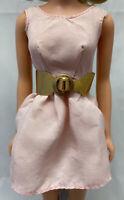 Vintage Barbie FRANCIE PRETTY POWER #1512 Sears Pale Pink Dress And Gold Belt