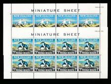 NEW ZEALAND B67-68a MINT NH SOUVENIR SHEETS, BIRDS