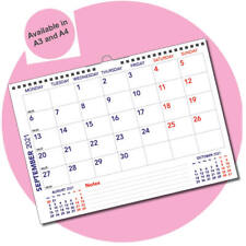 More details for academic landscape monthly memo calendar year planner sep 2021-aug 2022 a3 / a4