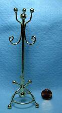 Dollhouse Miniature Brass Coat Tree / Stand  IM66215