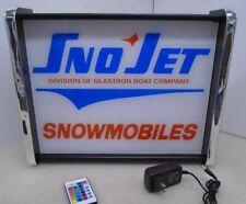 Snojet Snowmobile LED Display light sign box