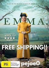 Emma DVD Reg 4 FREE POSTAGE (2020) Brand New! Sealed!