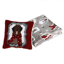 Cannon Cats and Dogs Puppy Velvet Plush Soft Throw Blanket & Pillow Set