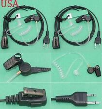 PAIR AVPH3 SECURITY HEADSETS MIDLAND WALKIE TALKIE TWO WAY RADIO VOX CLEAR TUBE