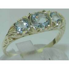 Aquamarine Natural White Gold Fine Rings