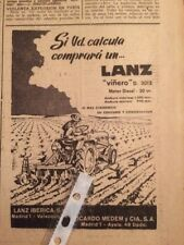 4 Anuncios Publicidad Tractores Lanz de 1962