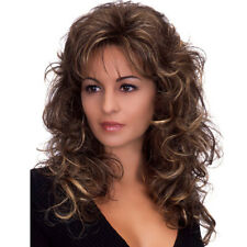 Women Ladies Ombre Blonde Long Curly Wig Natural Wavy Hair Party Cosplay Wigs