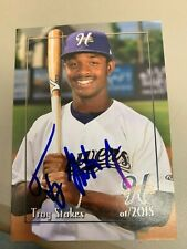 Troy Stokes 2015 Signed Helena Brewers Team Card