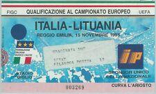 68537 -  BIGLIETTO PARTITA CALCIO 1995: ITALY /  LITHUANIA Campionato Europeo
