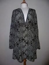 Fransa silk  mini dress  / tunic brown