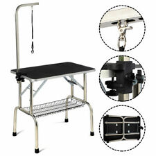 32' Large Portable Pet Dog Cat Grooming Table Dog Show W/Arm &Noose & Mesh Tray