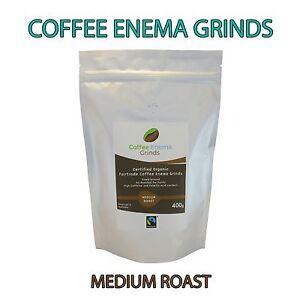 COFFEE ENEMA GRINDS MEDIUM ROAST - GERSON ORGANIC FAIRTRADE - AIR ROASTED - 400g