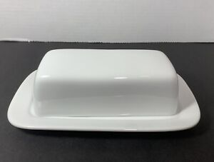 10 Strawberry Street White Classic Covered Butter Dish