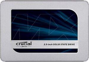 Crucial MX500 500 GB CT500MX500SSD1(Z)-Up to 560 MB/s (3D NAND, SATA, 2.5 Inch
