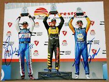 Sebastien Bourdais, Rossi, Rahal SIGNED 8x10 Photo Indy Car 2018 St Pete Podium