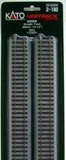 Kato 2-180 369mm (14 1/2') Straight Track S369 (4 pieces) (HO scale)