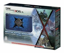 Nintendo New 3DS XL Monster Hunter Generations Console System Blue *NEW SEALED*