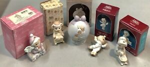 Precious Moments Lot Of 5 Christmas Ornaments 1989-2003 Good Condition