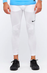 Nike Pro Men's Compression Leggings - White - [838067-100]