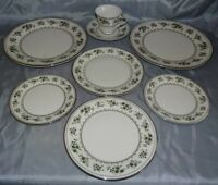 Royal Doulton England Valley Green 2 Dinner, Salad & Bread Plates 1 Cup & Saucer
