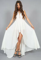LIONESS Brand White Sleeveless Lace Up Top Maxi Romper Size S BNWT  #TP36