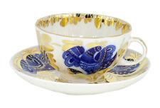 Golden Garden Tea Cup and Saucer Set 8.45 oz/250 ml Lomonosov Porcelain Factory