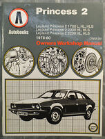 British Leyland Princess 2 Autobooks Workshop Manual from 1978 to 1980
