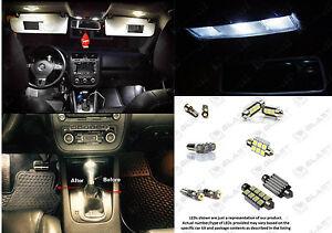 10pc WHITE Light SMD LED Interior Package Kit For VW Volkswagen Passat B7