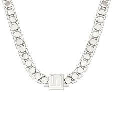 "Lori Greiner Stella Valle Logo 18"" Silvertone Chain Necklace QVC"