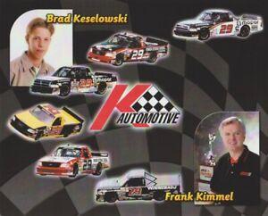 2004 Brad Keselowski + Frank Kimmel K-Automotive Dodge Ram NASCAR CTS postcard