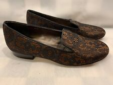 VAN ELI Flats Brown Black Pattern Design Women's Shoes 4.5 M
