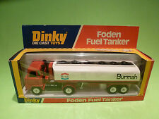 DINKY TOYS 950 TRUCK FODEN FUEL TANKER -BURMAH - RARE SELTEN - GOOD COND. IN BOX