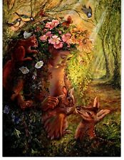 JOSEPHINE WALL FANTASY ART CARD THE DRYAD WOOD NYMPH F.U.M. TOOLS FUM