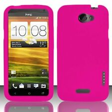 Silicone Skin Case for HTC One X - Hot Pink