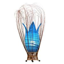 TURQUOISE Handmade Fabric Bud Tulip Lamp Floor or Table Fair Trade