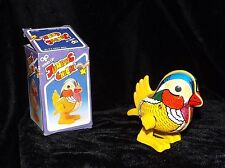 2 CLASSIC WKW EASTER BUNNY & CHICK TIN & PLASTIC WINDUPS TOYS NEW MINT NEVR USED