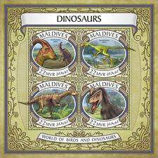 Maldives 2017 MNH Dinosaurs Parasaurolophus Dryosaurus 4v M/S Stamps