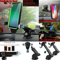 Universal Gravity Car Mount Dashboard Holder Cradle For Cell Phone GPS Samsung