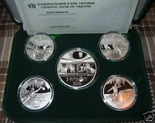 SALE! Full Set 5 SILVER Coins EURO 2012 FOOTBALL Ukraine-Poland Sport UEFA